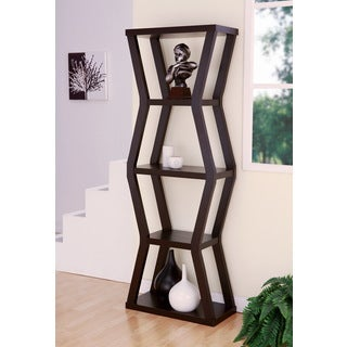 Furniture of America Skyler 5-tier Contemporary Cappuccino Display Cabinet