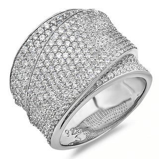 Sterling Silver Clear Cubic Zirconia Wrap Ring