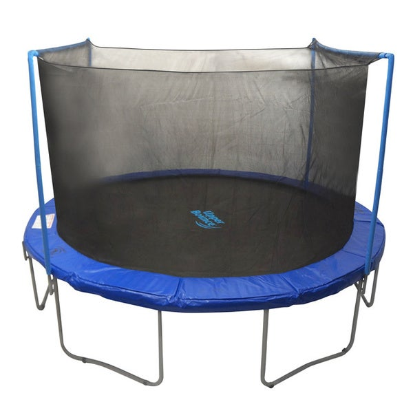 Upper Bounce 14 Ft Trampoline Enclosure Net: Trampoline 13 Ft. Round Dual-arch Replacement Net With Straps