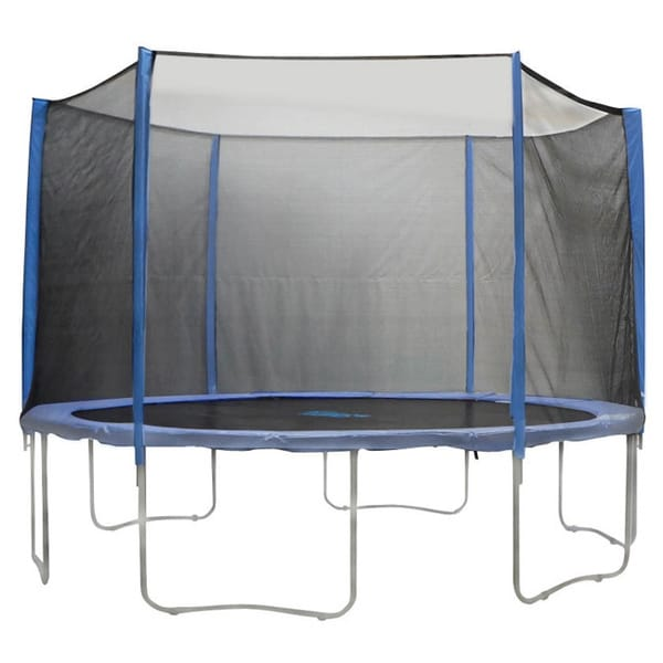 15-foot 6-pole Trampoline Enclosure Net for Round Frames