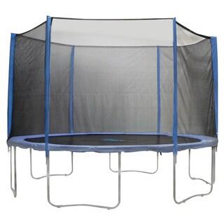 15-foot 6-pole Trampoline Enclosure Net for Round Frames