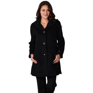 Ellen Tracy Women's A-line Wool Blend Coat