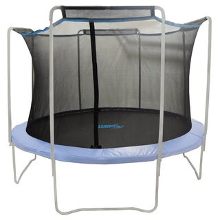 12-foot Trampoline Enclosure Net For Round Frame Using 4 Arches