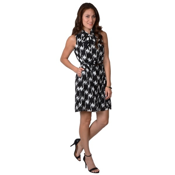 Vince Camuto Women's Belted Sleeveless Dress