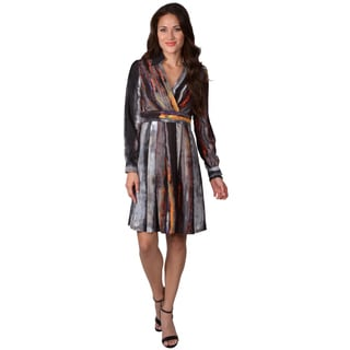 Vince Camuto Women's Collared Print Dress