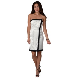 Vince Camuto Women's Strapless Tuxedo Dress