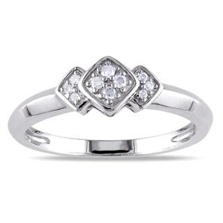 M by Miadora Sterling Silver Geometric Diamond Ring (H-I, I2-I3)