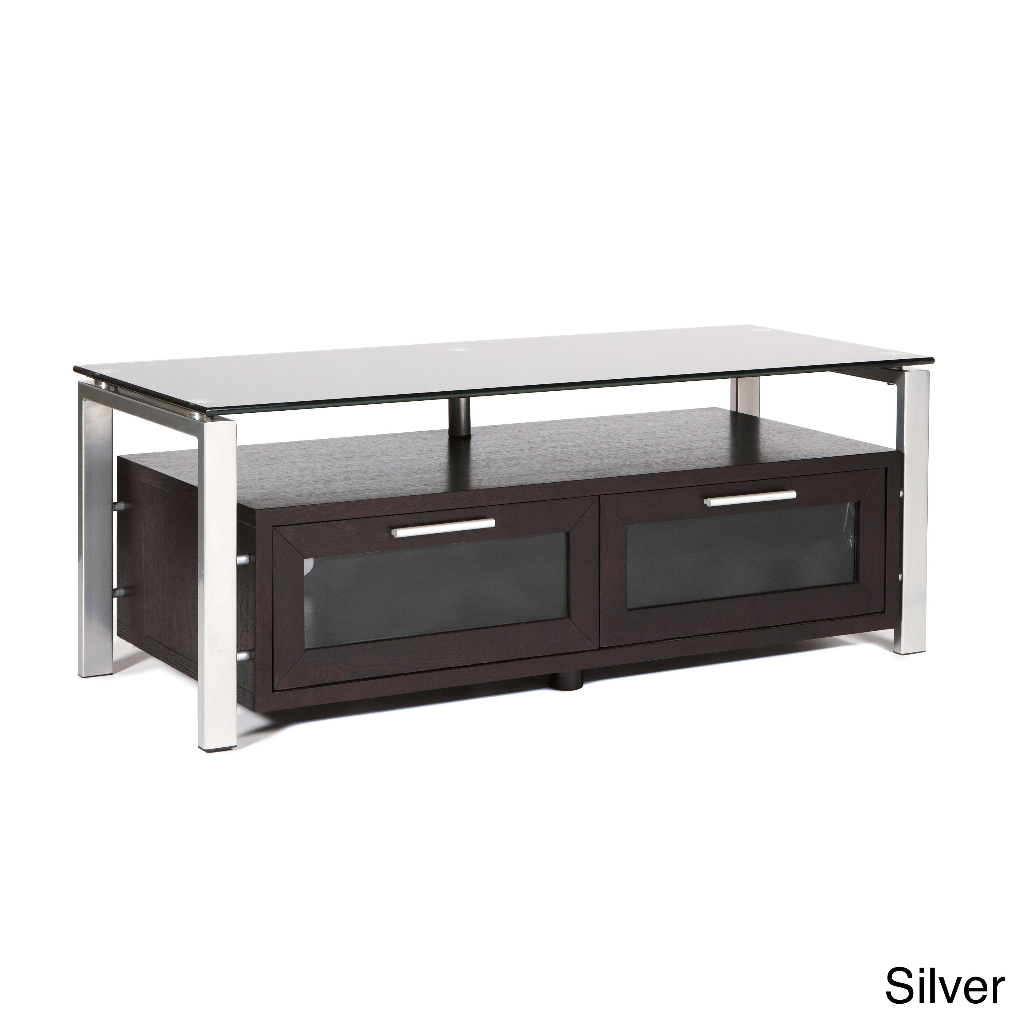 Wood/Glass 50-inch TV Stand at Sears.com