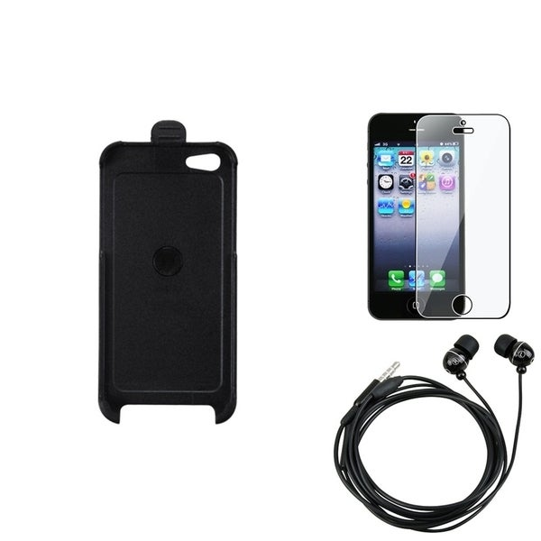 INSTEN Clear Screen Protector/ Headset/ Holster for Apple iPhone 5