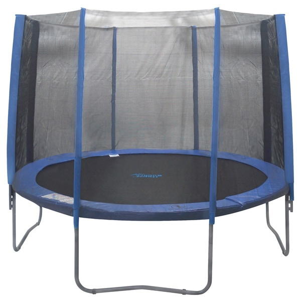Propel 14 Trampoline With Fun Ring Enclosure: 14-foot 8-pole Trampoline Enclosure Net For Round Frame