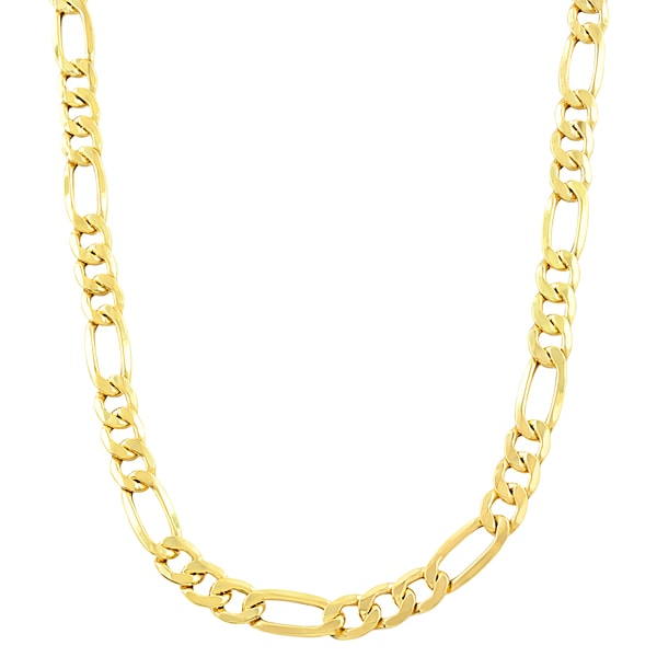 Fremada 10k Yellow Gold Figaro Necklace (20-inch)