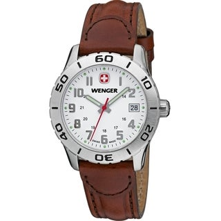 Wenger Women's Grenadier White Dial Brown Leather Watch