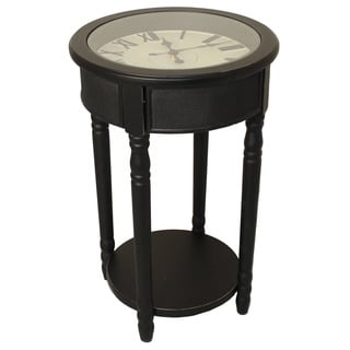Casa Cortes 26-inch Espresso Clock/ End Table