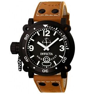 Invicta Men's Leather Russian Diver Watch