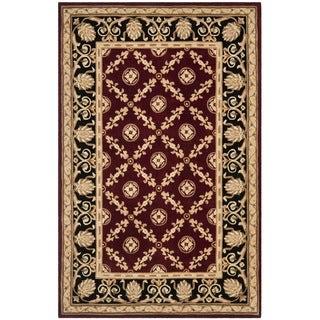 Safavieh Handmade Naples Burgundy/ Black Wool Rug (8' x 11')