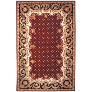 Safavieh Handmade Naples Burgundy Wool Rug (8' x 11')