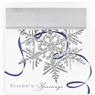 Silver Snowflake Boxed Holiday Cards