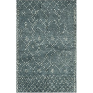 Safavieh Hand-knotted Loft Aquamarine New Zealand Wool Rug (8' x 10')