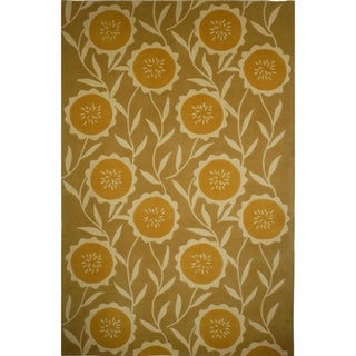 Safavieh Handmade Mandarin Sage/ Rust Wool Rug (9' x 12')