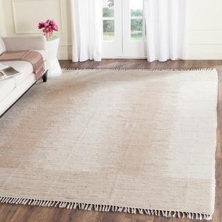 Safavieh Hand-woven Montauk Brown/ Beige Cotton Rug (6' x 9')