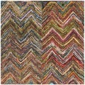 Safavieh Handmade Nantucket Multi Cotton Rug (8' Square)