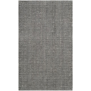 Safavieh Hand-woven Natural Fiber Light Grey Chunky Thick Jute Rug (2'6 x 4')