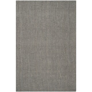 Safavieh Hand-woven Natural Fiber Light Grey Jute Rug (6' x 9')