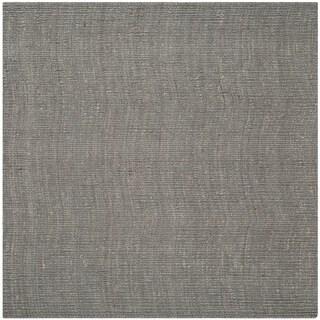 Safavieh Hand-woven Natural Fiber Light Grey Jute Rug (6' Square)
