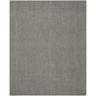 Safavieh Hand-woven Natural Fiber Light Grey Jute Rug (8' x 10')