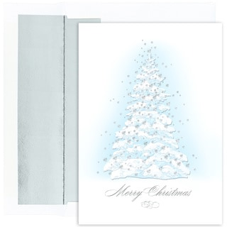 Frosted Tree Boxed Holiday Cards