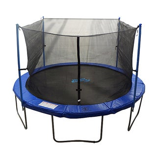 12-foot 4-pole Trampoline Safety Net For Round Frames (Poles Not Included)