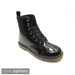 Blue Women's 'Milraver' Black Ankle Combat Boots