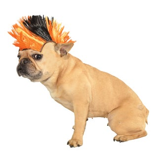 Rubies Orange/ Black Mohawk Wig Pet Costume