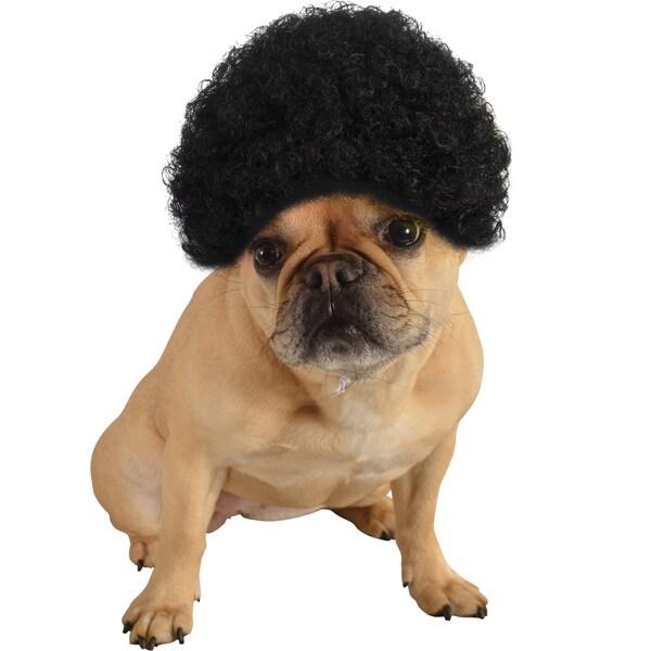 Rubies Afro Wig Black Pet Costume