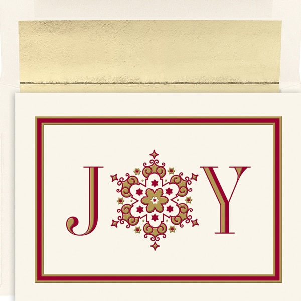 Joy Snowflake Boxed Holiday Cards