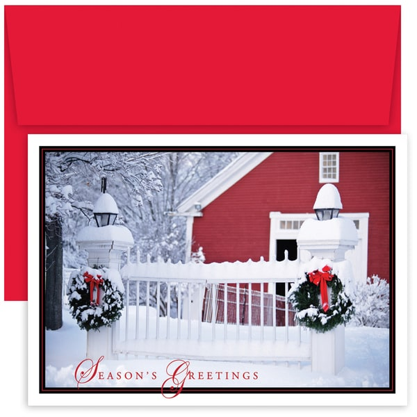 Holiday Picket Fence Boxed Holiday Cards