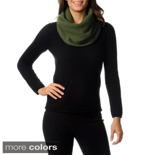 Ply Cashmere Women's Double Layer Snood Scarf