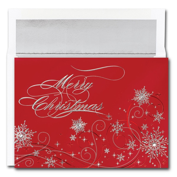 Christmas Snowflakes Boxed Holiday Cards