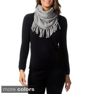 Ply Cashmere Cable Fringe Snood Scarf
