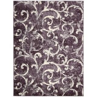 kathy ireland by Nourison Santa Barbara Dark Violet Rug (3'9 x 5'9)