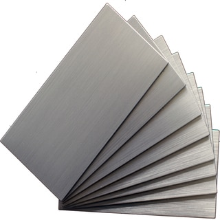 """EKB Instant Mosaic Silver Tile (3""""x 6"""") (Pack of 8)"""