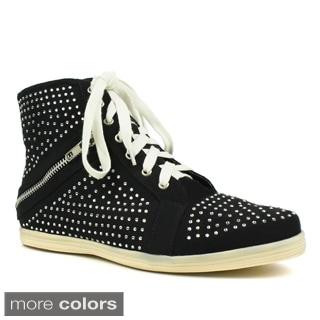 Fahrenheit Women's 'Kobe-06' Rhinestone Studded Sneakers