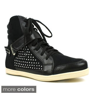 Fahrenheit Women's 'Kobe-05' Studded Lace-up Sneakers