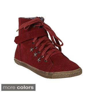 Blossom 'Cassey-23' Women's High-Top Lace Up Front Casual Sneakers