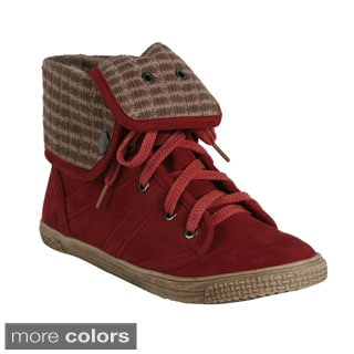 Blossom 'Cassey-21' Women's High-Top Folded Cuff Sneakers