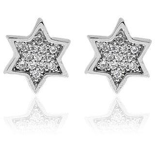 Molly and Emma Sterling Silver Children's CZ Star Stud Earrings