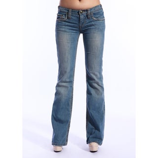 Stitch's Women's Crow Medium Blue Flaired Jeans