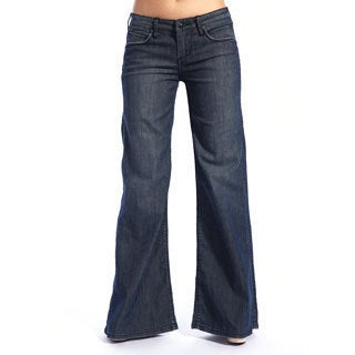 Stitch's Women's Crow Dark Wash Wide Leg Jeans