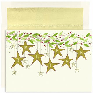 Believe Stars Boxed Holiday Cards
