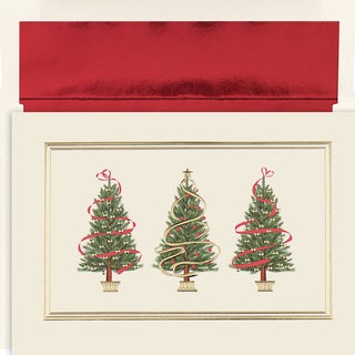 Holiday Trees Boxed Holiday Cards (Set of 16)